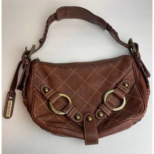 Isabella Fiore Distressed Brown Leather handbag